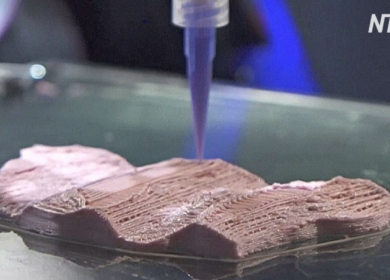 KFC будет печатать наггетсы из искусственного мяса на 3D-биопринтере